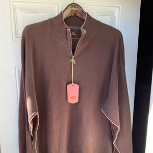 Tommy Bahama XL 1/4 zip pullover brand new